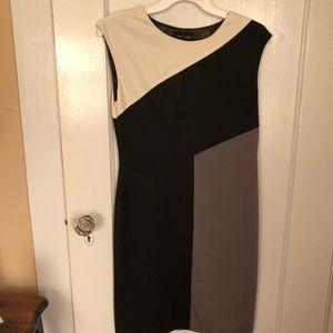 Calvin Klein Colorblock Sheath Dress Sz 2